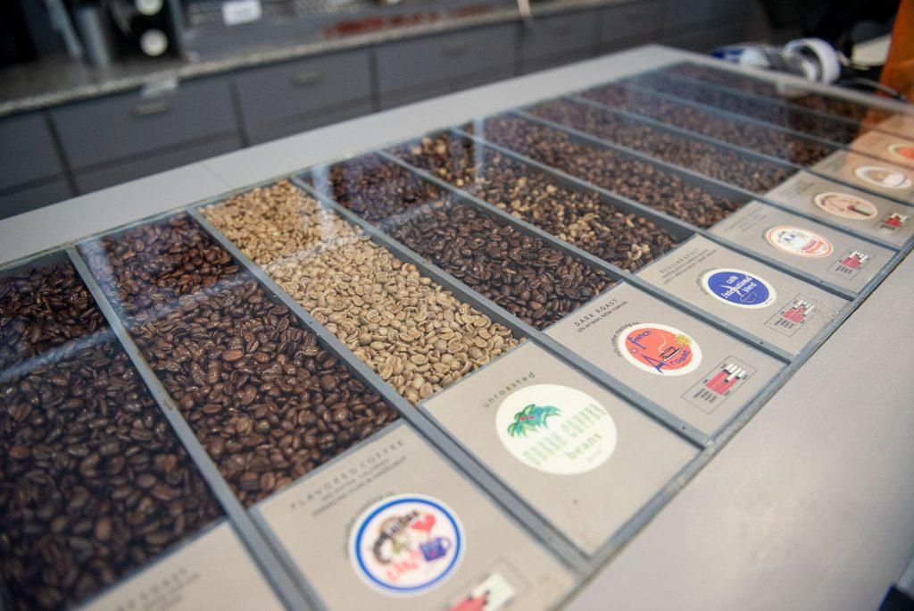 Beans on display